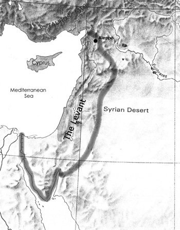 Map of the Levant